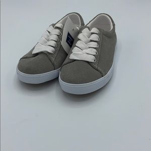 Janie and Jack Suede Sneakers - Grey